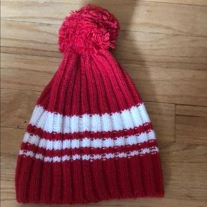 American Eagle red and white striped hat